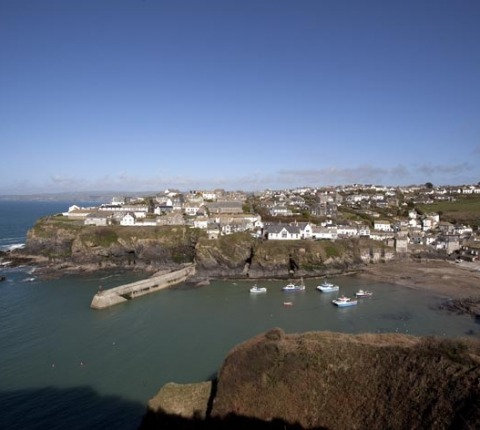 Looking down on Port Isaac's harbour: on the doorstep of several of Latitude 50's holiday cottages in Port Isaac, Cornwall