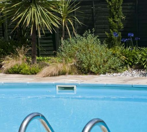 Half-way Tree's outdoor heated swimmingpool