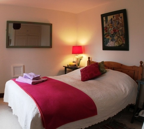 The master bedroom at May's Cottage, a luxury holiday cottage, Port Isaac area, Cornwall