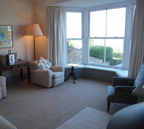 Sitting room at 2 Pentire View