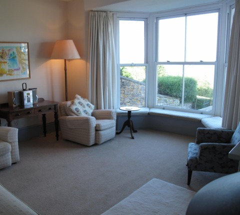 The sitting room at 1 Pentire View