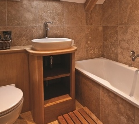 bathroom/shower-room at Penquite Cottage, a luxury Port Isaac holiday cottage