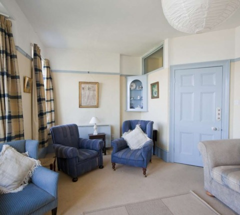The sitting room at 1 Pentire View, Polzeath: a different aspect