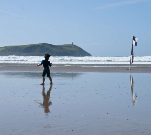 Look back in wonder -- Polzeath is the perfect venue for a Family Beach Holiday
