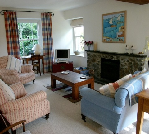 Sitting area at May's Cottage, a Port Isaac Holiday Cottage
